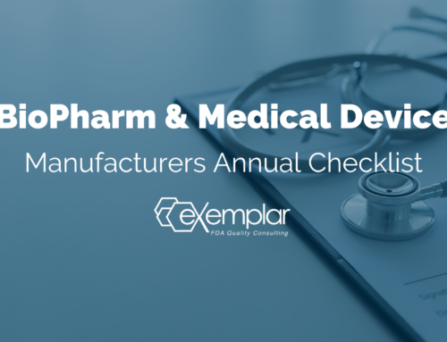 BioPharm & Medical Device Manufacturers Annual Checklist